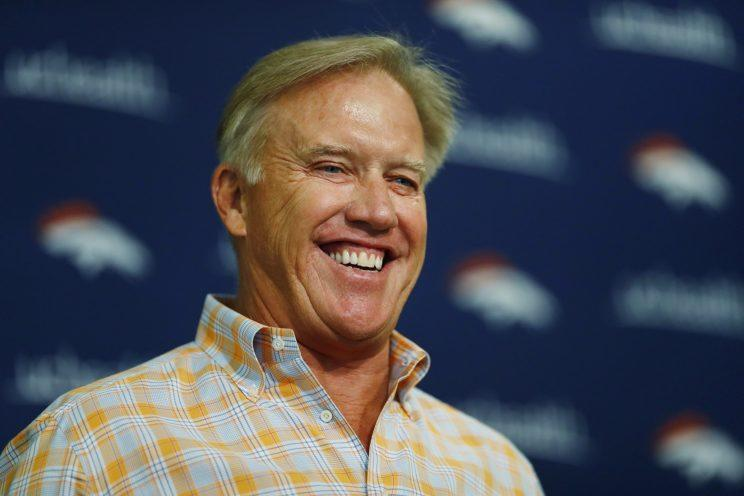 Broncos GM John Elway is hoping his team can get back to the playoffs in 2017. (AP)