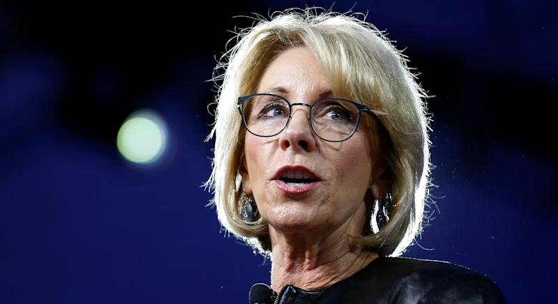 U.S. Secretary of Education Betsy DeVos speaks at the Conservative Political Action Conference on February 23, 2017.
