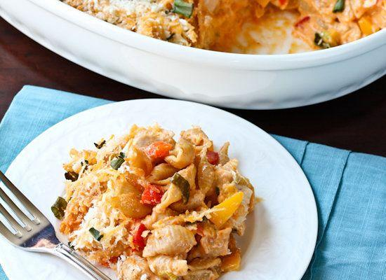 """<strong>Get the <a href=""""http://www.aspicyperspective.com/2012/02/buffalo-chicken-mac-and-cheese.html"""">Buffalo Chicken Mac N Cheese recipe</a> from A Spicy Perspective</strong>"""