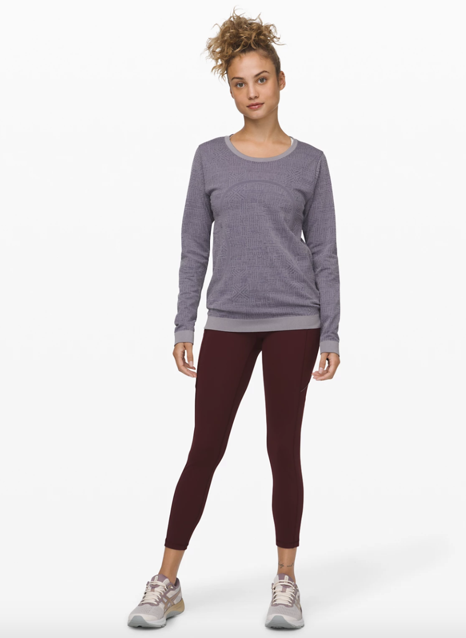 "Lululemon Speed Up Tight 25"" in garnet"