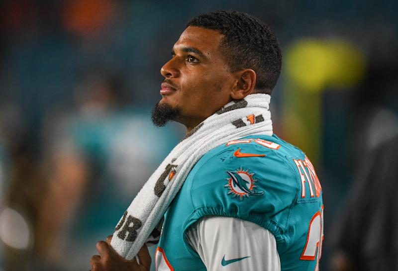 Minkah Fitzpatrick reportedly wants out of Miami. (Getty)