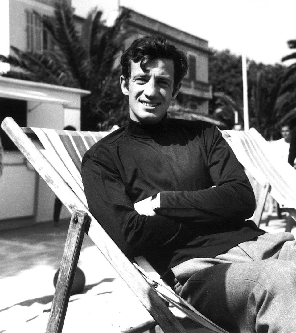 <p>Relaxing at Cannes film festival in 1964</p>