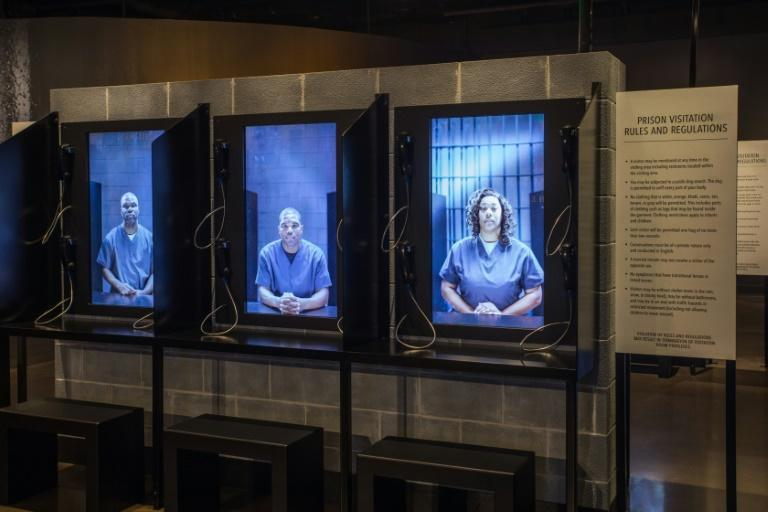 Victims of legal injustice tells their stories at the Legacy Museum (AFP/Handout)