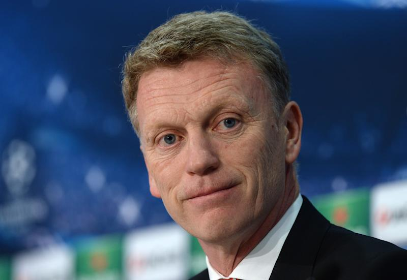 David Moyes, attends a press conference on April 8, 2014 when he was manager of Manchester United, in Munich, southern Germany