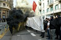 Protests that began in Catalonia have now spread to other cities, including Madrid