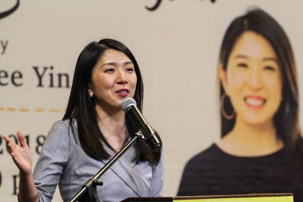 Yeo Bee Yin speaks at the launch of her book 'Re-imagining Malaysia' at The Starling Mall, Petaling Jaya March 14, 2018. — Picture by Shafwan Zaidon