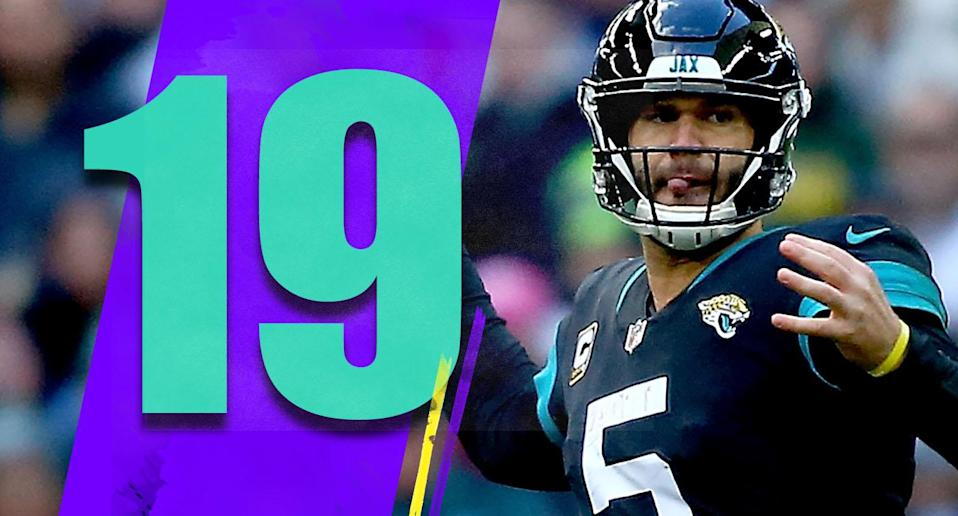 <p>With the Texans heating up, and the Jaguars already having lost a home game to them, it's not crazy to think they need to go 7-1 in the second half to win the division. Does this look like a team that can go 7-1 the rest of the way? (Blake Bortles) </p>