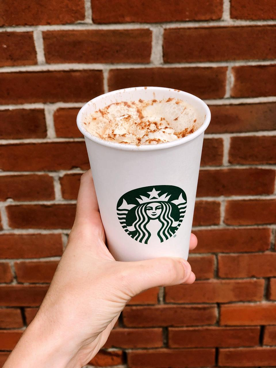 <p>This secret menu item is a fan favorite for a reason. On the Starbucks app, order a Caffè Latte and add a pump of hazelnut syrup, vanilla syrup, and pumpkin sauce. The icing on the cake? A generous amount of whipped cream and pumpkin spice topping.</p>