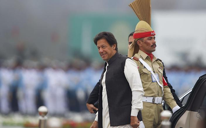 Imran Khan has also accused Narendra Modi of whipping up war hysteria for electoral purposes - AFP