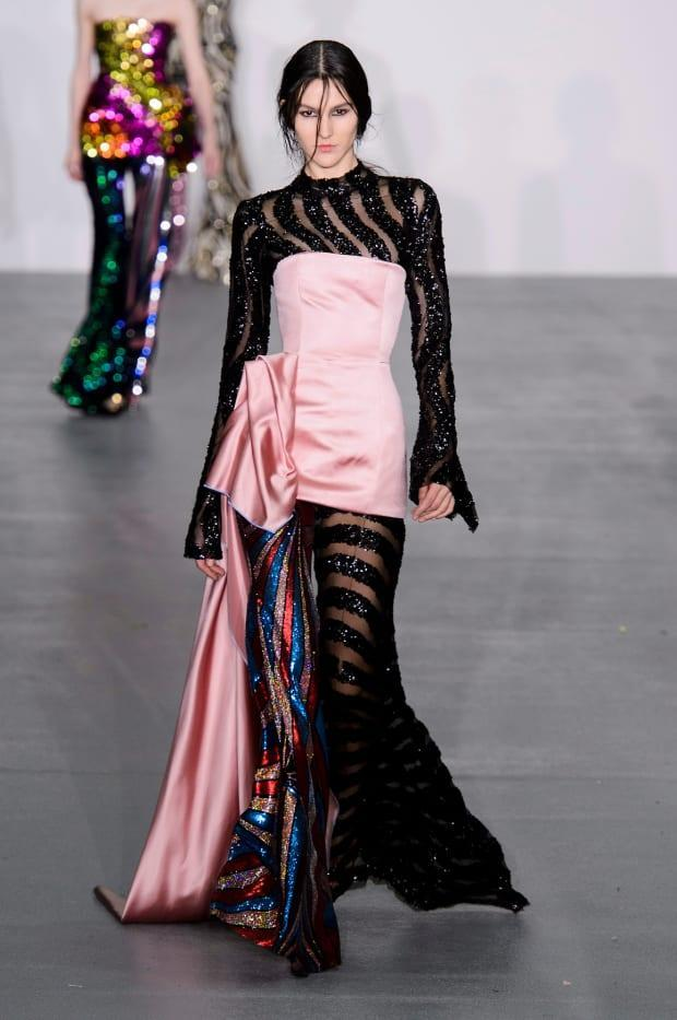 A look from Michael Halpern's Central Saint Martins MA collection, shown during the Fall 2016 season of London Fashion Week.