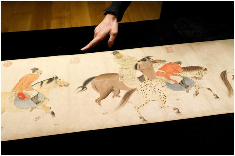 Rare 700-year-old Chinese Scroll Goes Under the Hammer in Hong Kong