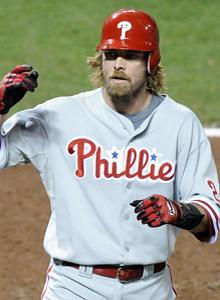 Jayson Werth's home run extended the Phillies' lead to two runs