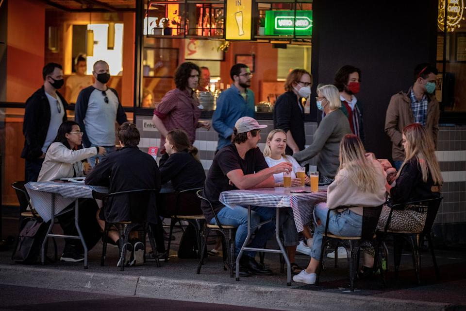 Melbourne enjoyed its first weekend of hospitality venues being open after lockdown. Source: Getty