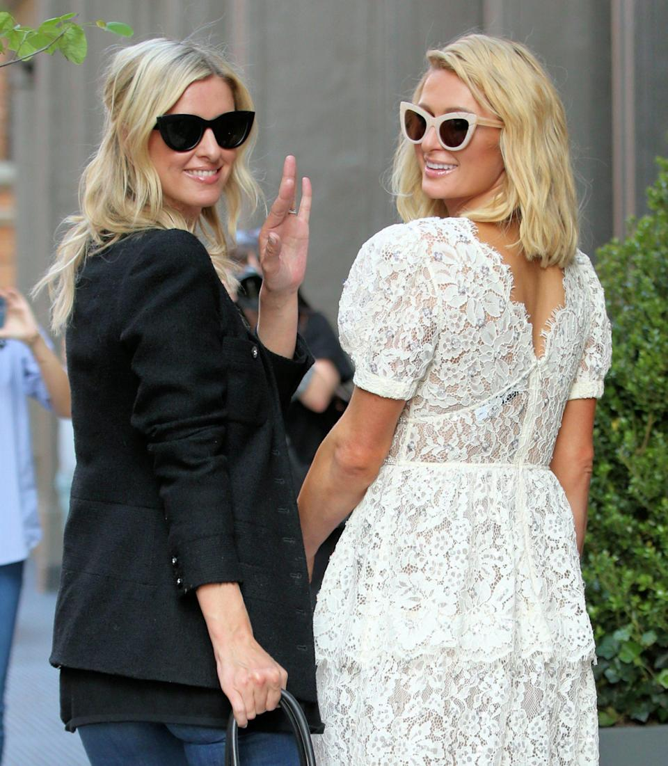 <p>Nicky and Paris Hilton film a sequel to the <em>This Is Paris</em> documentary in N.Y.C. on June 21.</p>