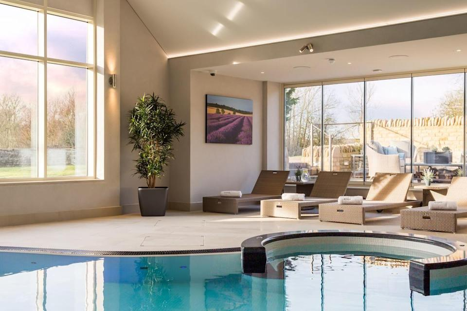 """<p>Prettily nestled in 65 acres of glorious grounds on the banks of the River Windrush, this honey-hued stone luxury spa hotel has a gorgeous wellness space in the heart of its landscaped gardens.</p><p>Pamper, preen and polish with an ESPA treatment in one of the three suites, and enjoy a dip in the inviting pool. Outside the spa, there's also a croquet lawn and tennis court to keep you busy, as well as wood-beamed restaurant serving up modern British cuisine.</p><p>Wander around the charming nearby Cotswolds village of Minster Mill, or head into Oxford for some historic culture. Blenheim Palace is also on the doorstep for a step back in time.</p><p><strong>Covid-19 update</strong>: Facilities are subject to capacity limits and need to be booked in advance.<strong><br></strong></p><p><a class=""""link rapid-noclick-resp"""" href=""""https://go.redirectingat.com?id=127X1599956&url=https%3A%2F%2Fwww.booking.com%2Fhotel%2Fgb%2Fminster-mill.en-gb.html%3Faid%3D2070929%26label%3Dluxury-spa-hotels-uk&sref=https%3A%2F%2Fwww.redonline.co.uk%2Ftravel%2Finspiration%2Fg34573730%2Fluxury-spa-hotels-uk%2F"""" rel=""""nofollow noopener"""" target=""""_blank"""" data-ylk=""""slk:CHECK AVAILABILITY"""">CHECK AVAILABILITY</a><br></p>"""