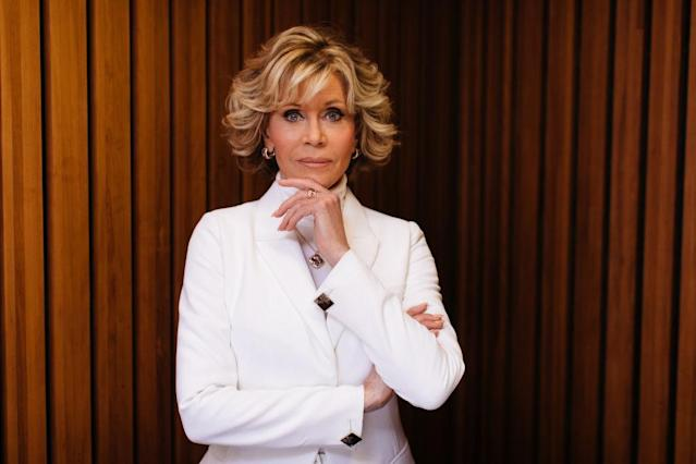 Jane Fonda has revealed she won't be getting any further plastic surgery. Pictured here in 2018. (Getty)