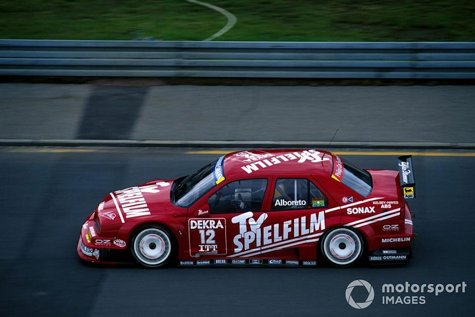 "Alboreto was never at ease in the Schubel-run Alfa Romeo 155 V6TI in 1995's DTM and ITC series. <span class=""copyright"">Sutton Images</span>"