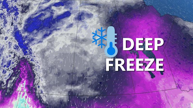 Prairies: Temperatures will be among lowest on Earth with intense deep freeze