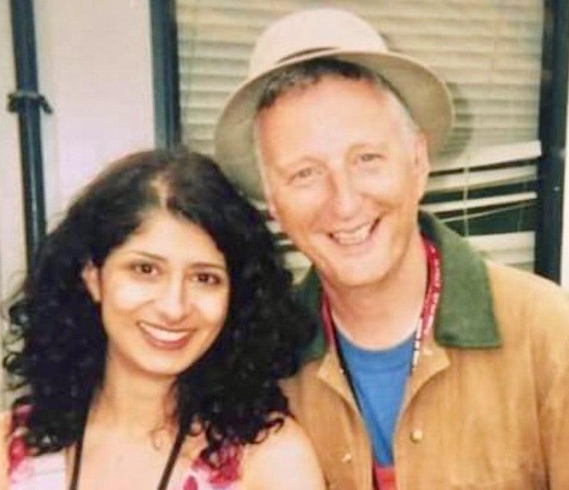 <p>Shappi Khorsandi and Billy Bragg at Glastonbury in 2004</p> (Jerry Dammers of The Specials)