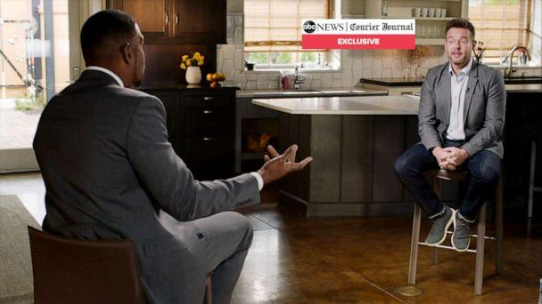 PHOTO: 'Good Morning America' co-anchor Michael Strahan interviews Jonathan Mattingly in an exclusive sit down with ABC News and Louisville's Courier Journal. (ABC News/The Louisville Courier Journal)
