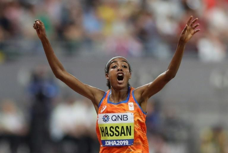 Sifan Hassan, who won an impressive double of world titles in Doha, faces a strong Kenyan duo
