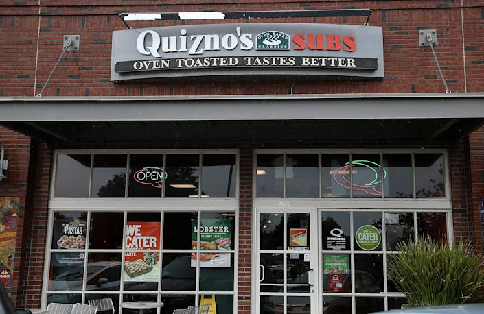 The storefront of a Quiznos