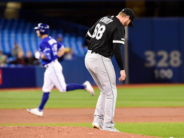 The Toronto Blue Jays played a game unusual to their season, but true to their identity on Friday. (Frank Gunn/The Canadian Press via AP)