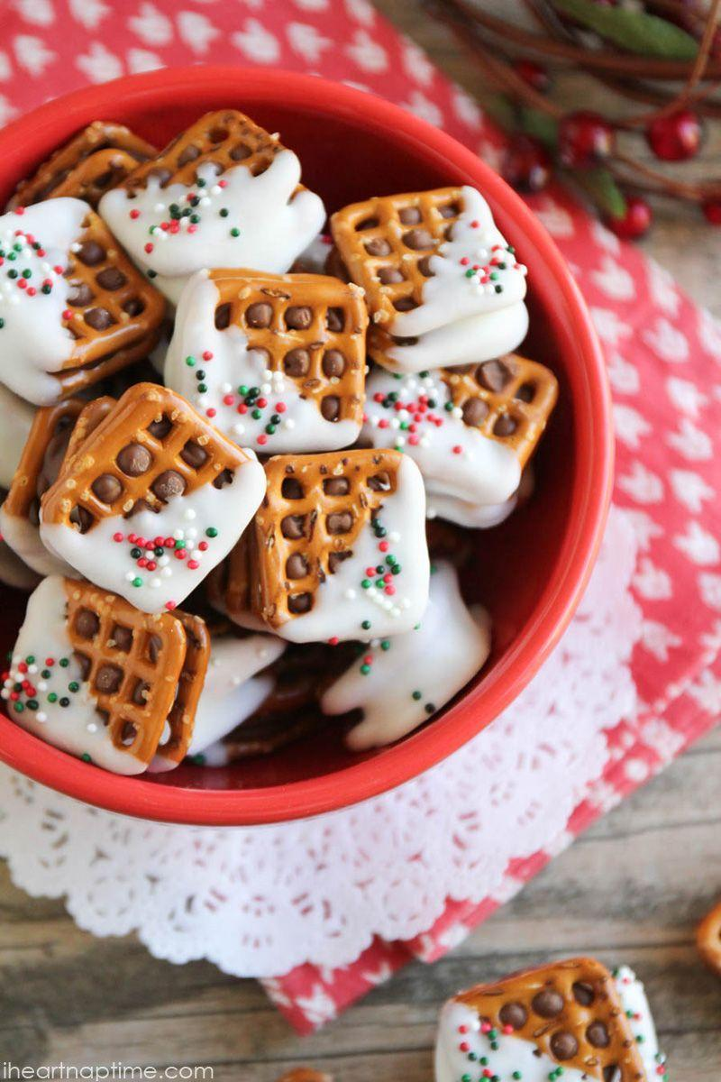 """<p>Fact: These are the cutest little Christmas desserts we ever did see.</p><p><strong>Get the recipe at <a href=""""http://www.iheartnaptime.net/rolo-pretzel-sandwiches/"""" rel=""""nofollow noopener"""" target=""""_blank"""" data-ylk=""""slk:I Heart Naptime"""" class=""""link rapid-noclick-resp"""">I Heart Naptime</a>.</strong></p>"""