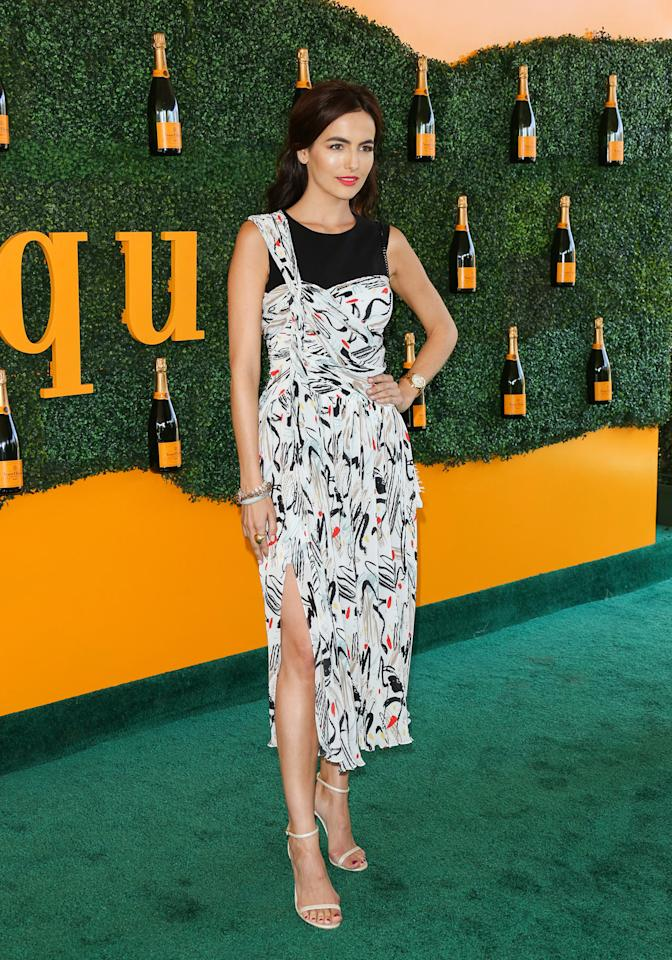"""<p><p>Camilla Belle's <a rel=""""nofollow"""" href=""""https://ec.yimg.com/ec?url=http%3a%2f%2fwww.adeam.com%2f%26quot%3b%26gt%3bADEAM%26lt%3b%2fa%26gt%3b&t=1508568961&sig=4hV6Akw.cBjgF2UC0vacHQ--~D dress was just the right balance of ladylike and edgy.</p>                                                                                                                                                                               <h4>Getty Images</h4>"""