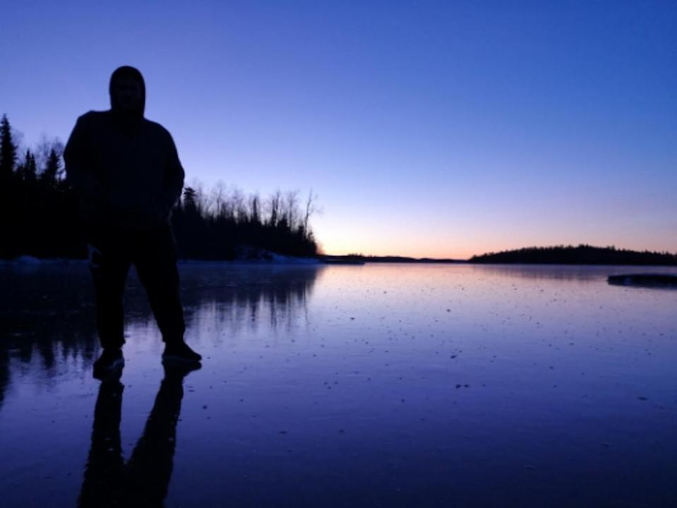 Skipping stones on ice creates a magical sound