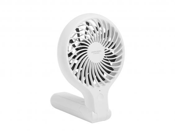 Compact and portable, you can bring this fan into the garden or on your next picnic to keep you and your kids cool (John Lewis and Partners)