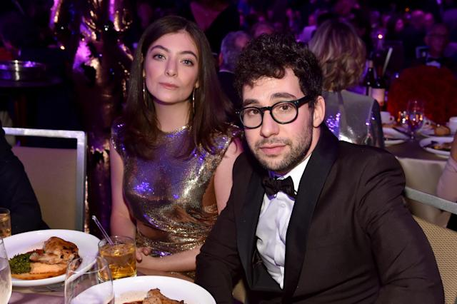 Lorde and Jack Antonoff attend the Clive Davis and Recording Academy Pre-Grammy Gala and Grammy Salute to Industry Icons Honoring Jay-Z on Jan. 27in New York City. (Photo: Getty Images)