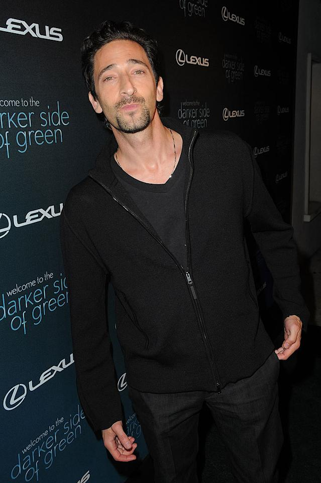 """Taking time out from slaying aliens, """"Predators"""" star Adrien Brody mugged for the cameras. Jordan Strauss/<a href=""""http://www.wireimage.com"""" target=""""new"""">WireImage.com</a> - July 8, 2010"""