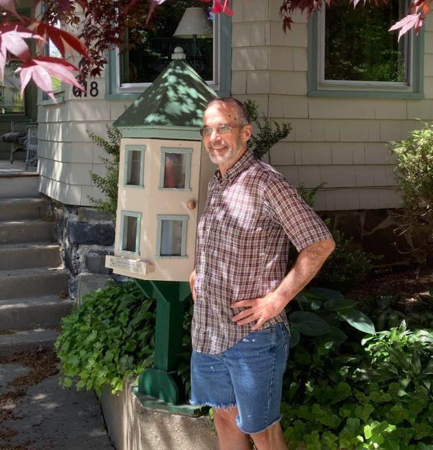 The author in front of his home in Cambridge, Massachusetts. (Photo: Courtesy of Paul E. Fallon)