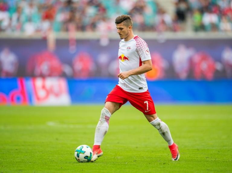 Leipzig's Marcel Sabitzer, seen in action during a German first division Bundesliga match in Leipzig, in August 2017
