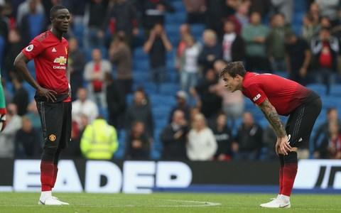 Eric Bailly (left) and Victor Lindelof -Eric Bailly (left) and Victor Lindelof did little to inspire  - Credit: Getty Images