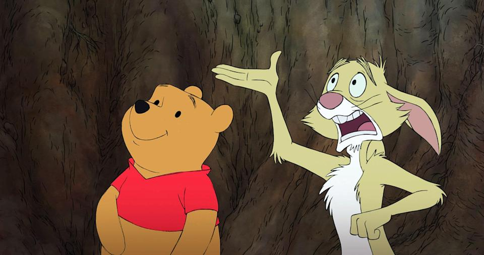 """<p>There have been several <em>Winnie the Pooh</em> movies and TV shows, but this one from 2011 is the sweetest of them all. Encompassing three separate stories, including a charming one about Eeyore losing his tail, 2011's <em>Pooh</em> is a wholesome, genuinely entertaining reminder of why you fell in love with these characters in the first place. </p> <p><a href=""""https://www.amazon.com/Winnie-Pooh-Jim-Cummings/dp/B0094KTBH0"""" rel=""""nofollow noopener"""" target=""""_blank"""" data-ylk=""""slk:Available for rent on Amazon"""" class=""""link rapid-noclick-resp""""><em>Available for rent on Amazon</em></a></p>"""