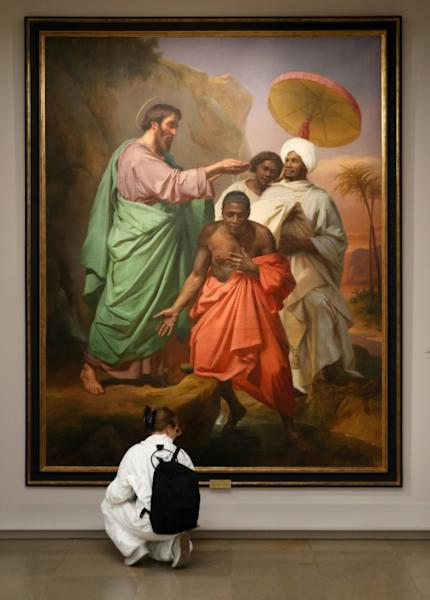"""""""Saint Philip baptising the eunuch of the Queen of Ethiopia on the way from Jerusalem to Gaza"""" by Abel de Pujol is part of the exhibition """"Black models: from Gericault to Matisse"""""""