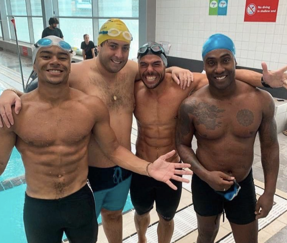Argent will be swimming the Channel alongside other celebrities, including Wes Nelson and Blue's Simon Webbe