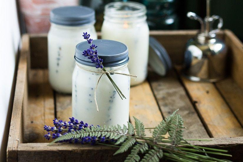 "<p>Made with pressed flowers and lavender, eucalyptus, and lemon oils, these elegant mason jar candles are perfect for your outdoor setup, and will repel pesky bugs naturally. </p><p><em>Via <a href=""https://hearthandvine.com/pressed-flower-mason-jar-candles/"" target=""_blank"">Hearth & Vine</a></em></p>"