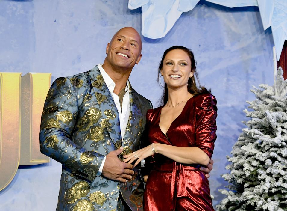 The pair went for a festive look, given the premiere had a Christmas theme. [Photo: Getty]