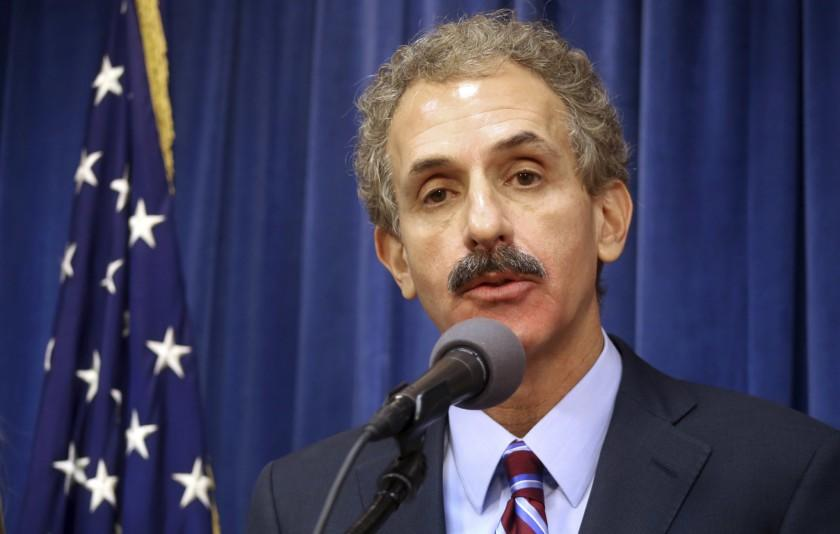 Los Angeles City Atty. Mike Feuer speaks Aug. 31, 2017.