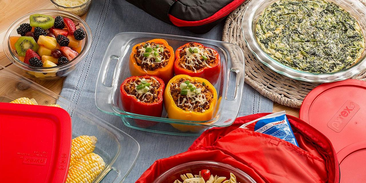 """<p>No matter how hard you try to keep it tidy, your cabinet of <a rel=""""nofollow"""" href=""""https://www.goodhousekeeping.com/cooking-tools/food-storage-container-reviews/g2215/food-storage-containers/#searchoverlay"""">food storage containers</a> always looks like a disaster. You know what we're talking about: There's mismatched takeout containers, half-melted plastic lids, and stained tupperware bottoms. Since you're still motivated to start the year off right, swap out your old containers for <a rel=""""nofollow"""" href=""""https://www.macys.com/shop/for-the-home/pyrex?id=206963&edge=hybrid&cm_kws=pyrex"""">new Pyrex glass containers and sets</a>. Not only will these glass dishes look better than your old stuff, but they're also dishwasher, oven, freezer, and microwave-safe. </p><p>Even better, enter <strong>""""LOVE""""</strong> at checkout for an<em> additional</em> 20% off.  Consider it a <a rel=""""nofollow"""" href=""""https://www.goodhousekeeping.com/holidays/valentines-day-ideas/g5101/last-minute-valentine-day-gifts/"""">Valentine's Day gift</a> from Macy's. </p>"""