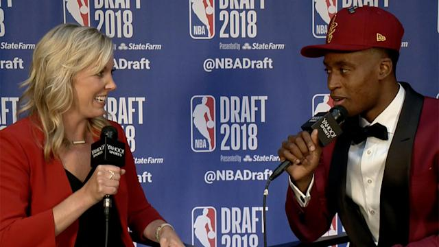 Yahoo Sports' 'NBA Draft Live' caught up with the first-round selection of the Cleveland Cavaliers to get his thoughts on the potential future of his current teammate.