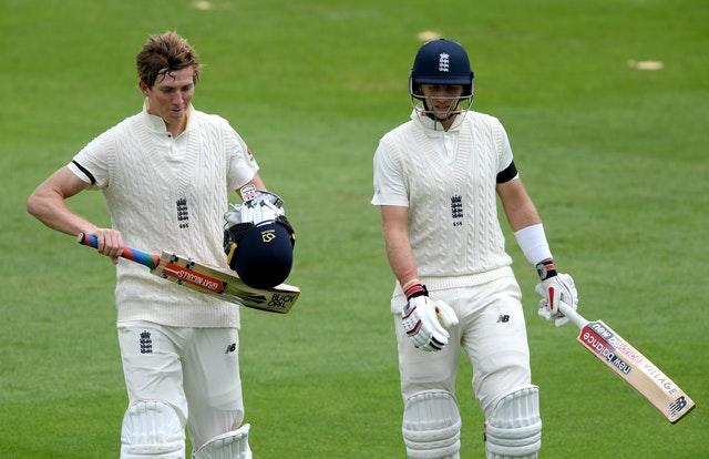 Crawley and Root were unbeaten at lunch