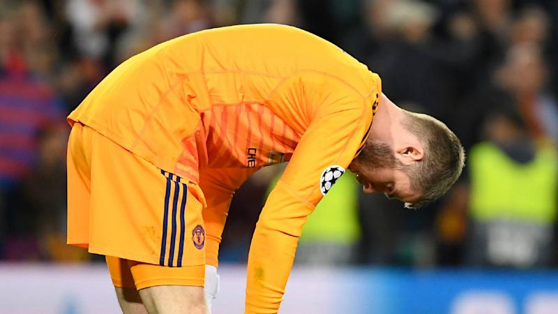 fdf08239b Ter Stegen didn apos t celebrate Messi apos s second goal against Manchester  United because he