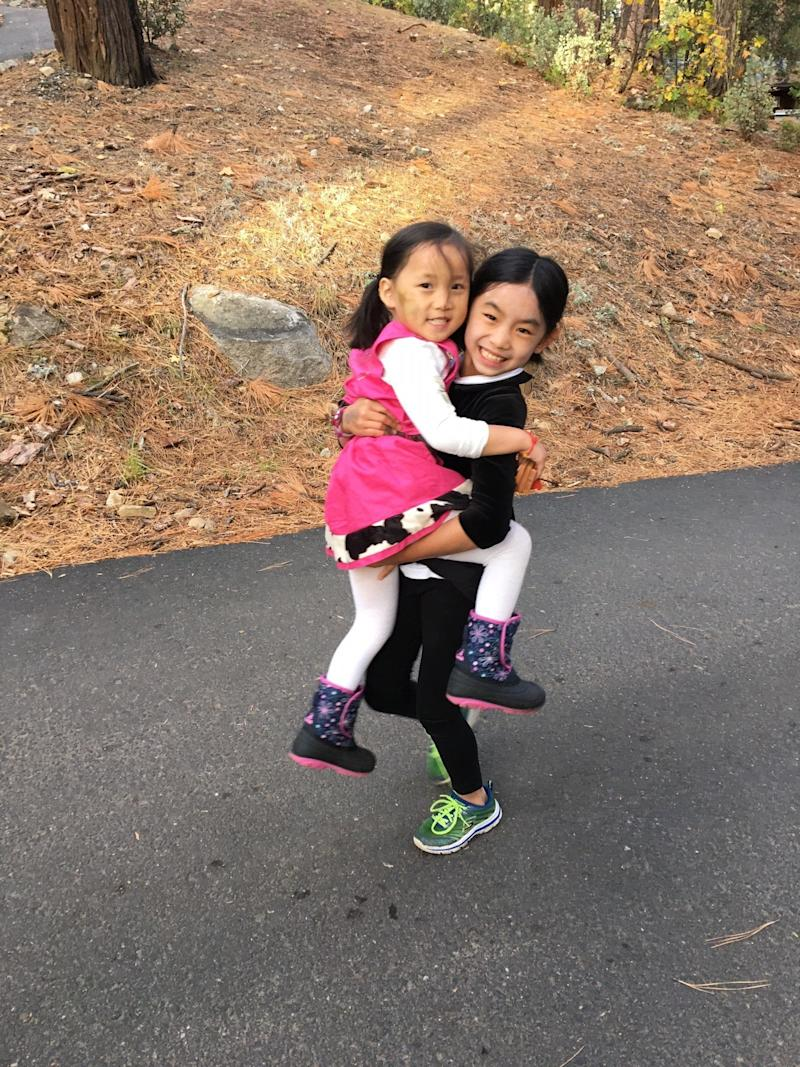 It took Kriss about four years to adopt her oldest daughter (right), but only about nine months to adopt her youngest (left). (Kriss Kokoefer)