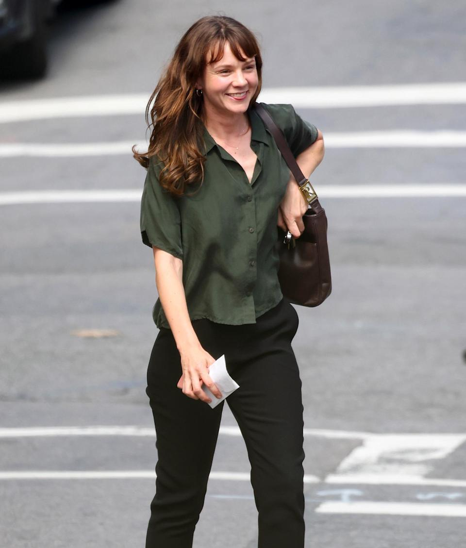 <p>Carey Mulligan is spotted heading to the set of <em>She Said</em> in Yonkers, New York on Aug. 31. </p>