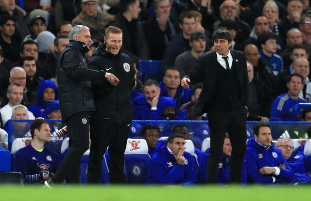 Jose Mourinho and Antonio Conte had many run-ins during the Italian's two-year spell in England