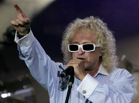 French singer Michel Polnareff sings at  Bastille Day concert in Paris